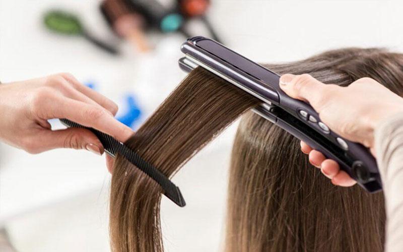 ترمیم موهای آسیب دیده با اتو مو