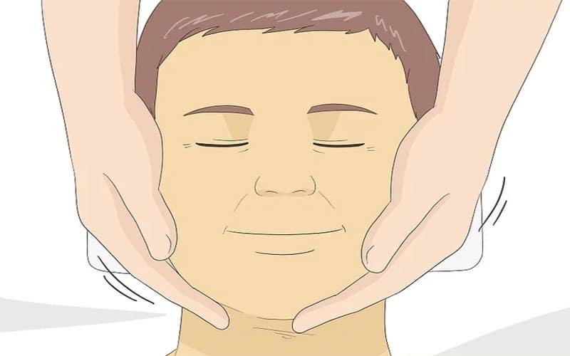 ماساژ صورت دیگر راه سفت شدن پوست صورت