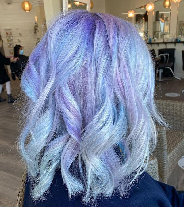 رنگ موهای تابستانی پاستیلی
