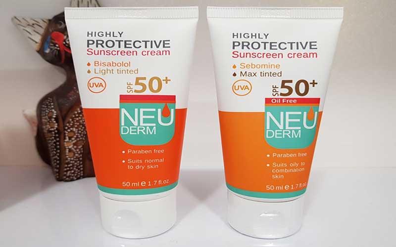 نئودرم بهترین ضد آفتاب رنگی برای پوست خشک