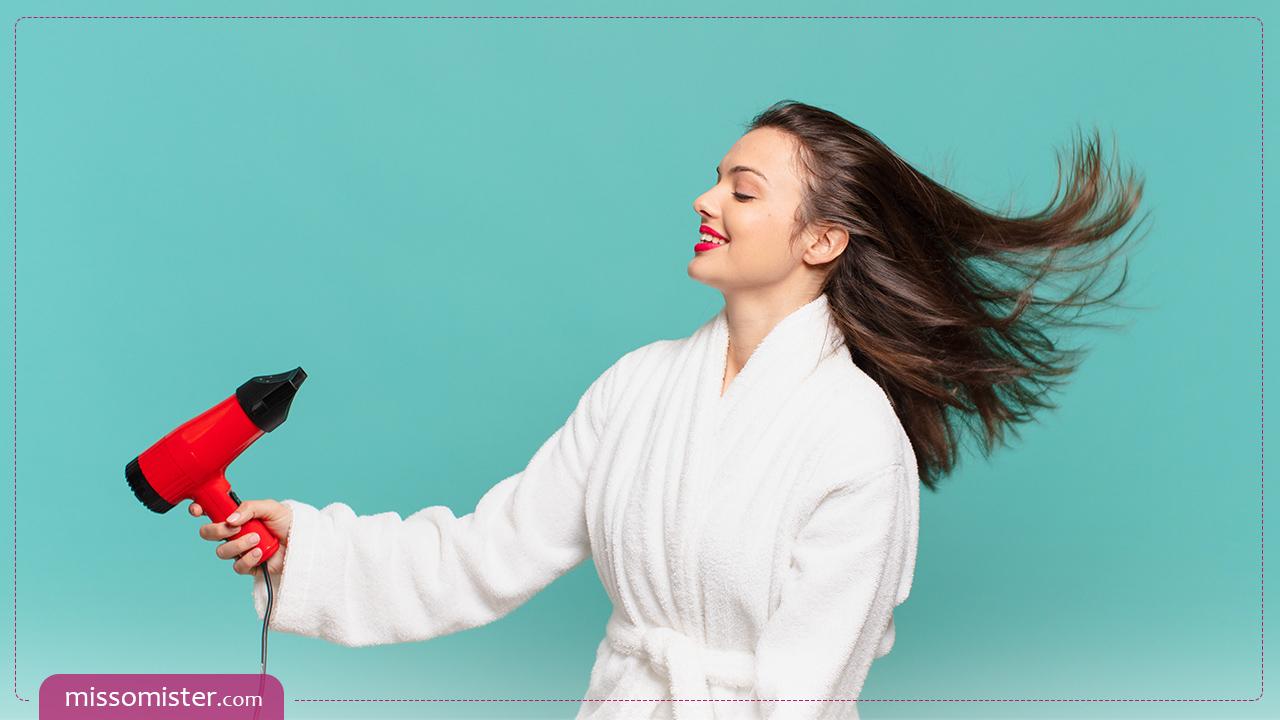 آموزش براشینگ مو حرفه ای توسط خود فرد برای موهای کوتاه و بلند