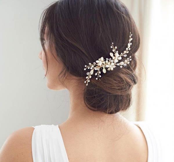 شنیون عروس مدل اروپایی