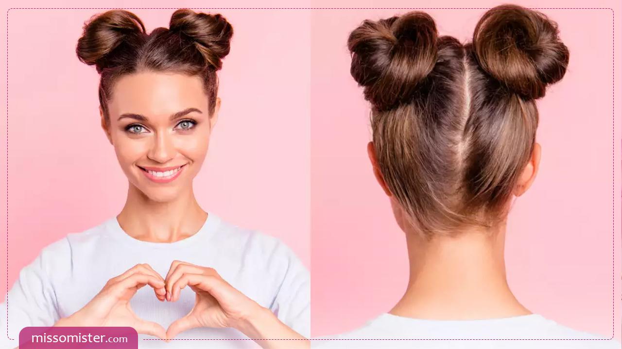 مدل مو گوجه ای، بهترین و ارزان ترین نوع شینیون مو در خانه+ ویدیو آموزشی